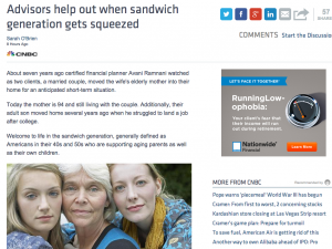 """Blackwelder featured in CNBC """"Sandwich Generation"""""""