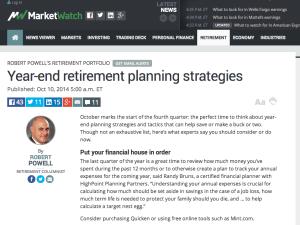 Year-end retirement planning strategies
