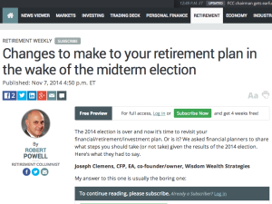 Changes to make to your retirement plan in the wake of the midterm election