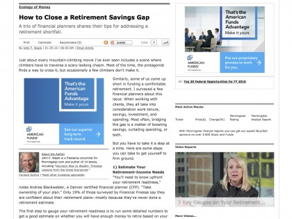 How to Close a Retirement Savings Gap